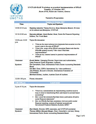 Tentative Programme
